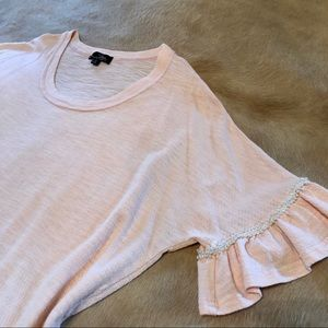 Plus pearl accent tee